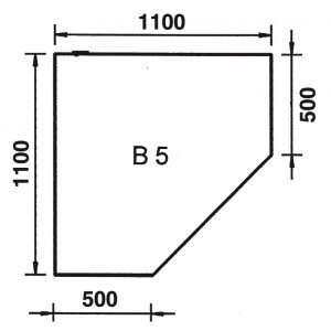 Bodenplatte Eckmodell B5