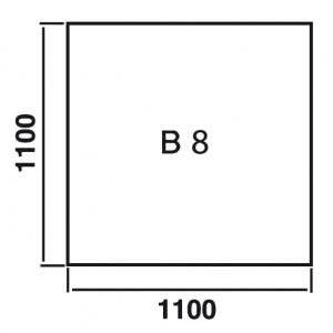 Bodenplatte Quadrat B8